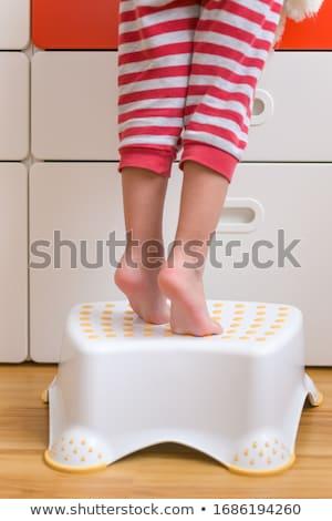 boy in the bathroom Stock photo © meinzahn