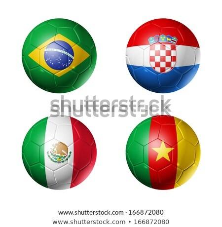 futebol · bandeira · Camarões · regular · verão - foto stock © creisinger