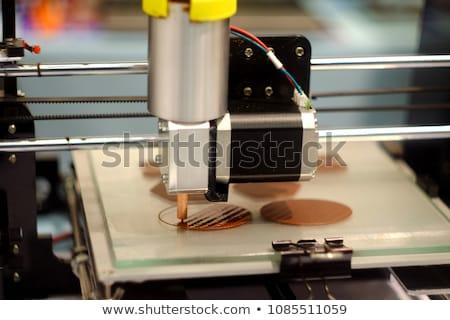 print metal icon Stock photo © nickylarson974