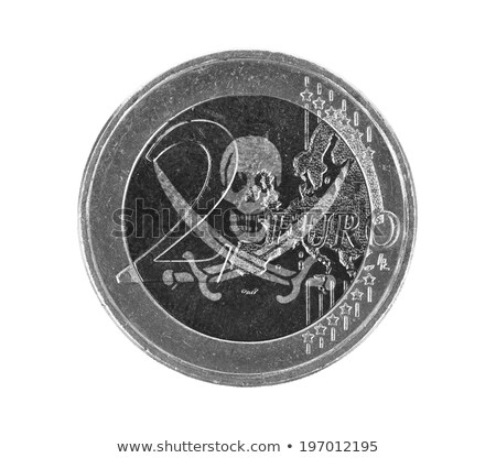 Coin Bank and Pirate Flag Stock photo © devon