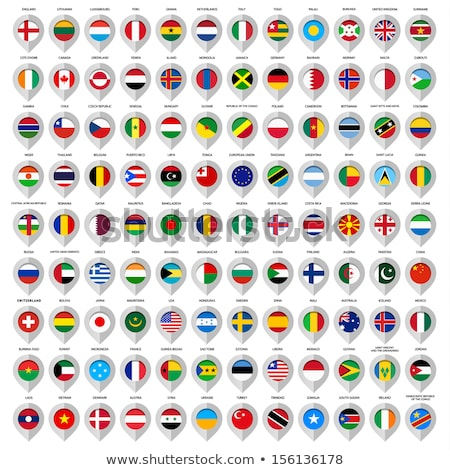 Map on flag button of State of Japan Stock photo © Istanbul2009