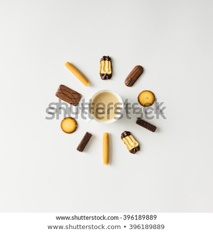 Chocolate Crispy Cookies with Morning Coffee Stock photo © dariazu