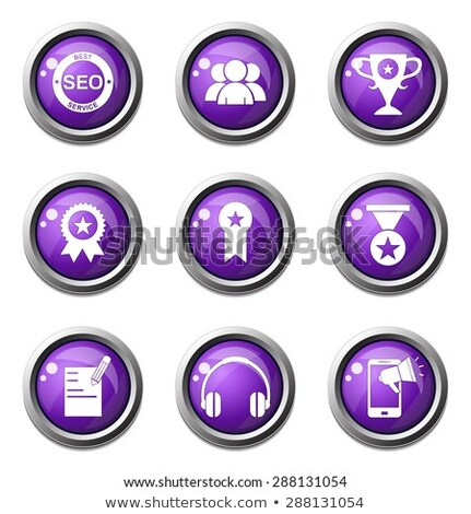 SEO Internet Sign Violet Vector Button Icon Design Set 9 Stock photo © rizwanali3d