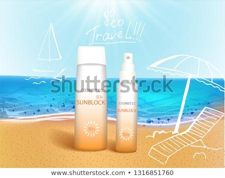 Sun cream on the beach Stock photo © adrenalina