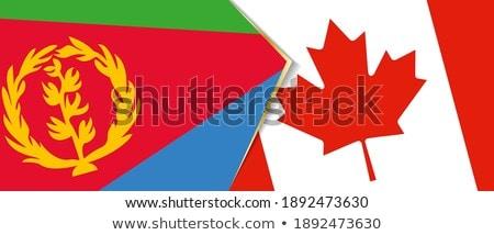 Канада Эритрея флагами головоломки изолированный белый Сток-фото © Istanbul2009