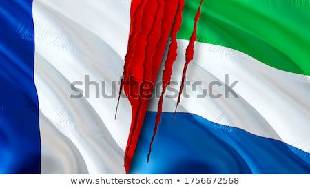 France and Sierra Leone Flags Stock photo © Istanbul2009