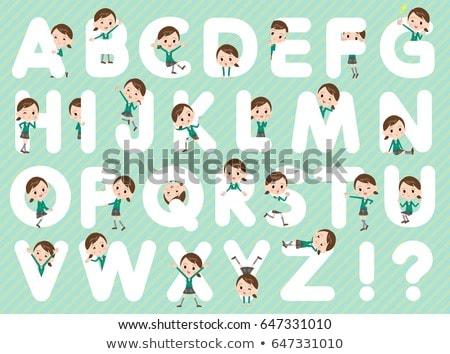 school girl Green Blazer woman A to Z Stock photo © toyotoyo