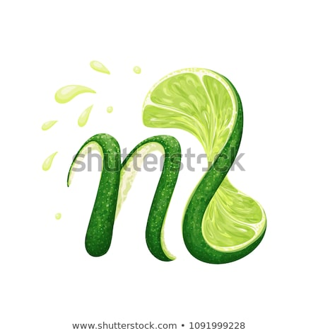 Green Sliced Letter N Vector Illustration Stock photo © cidepix