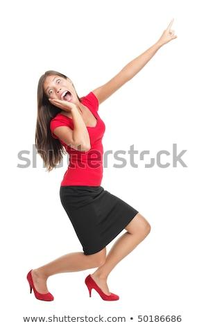 Portret bać młoda kobieta sweter stałego odizolowany Zdjęcia stock © deandrobot