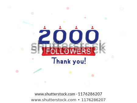 2000 followers banner - modern flat design style illustration Stock photo © Decorwithme