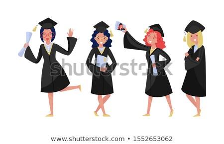 Cute Alumnus of the graduation ceremony set Stock photo © Blue_daemon