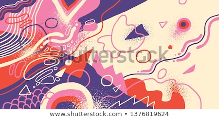 vibrant trendy background made with fluid shapes Stock photo © SArts