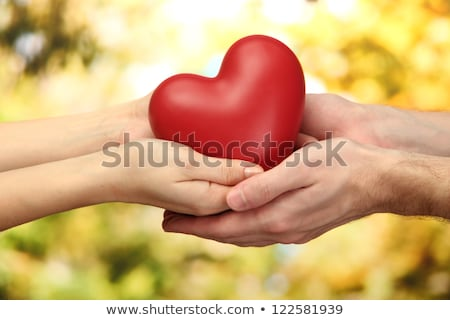 man's hands gifting heart on valentine day Stock photo © inxti