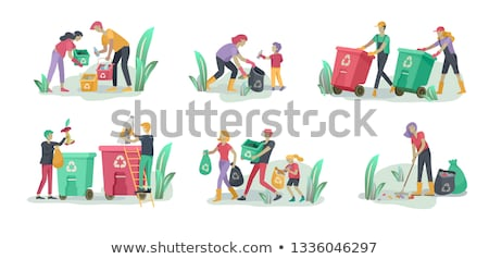 少女 ゴミ 洗浄 実例 自然 ストックフォト © colematt