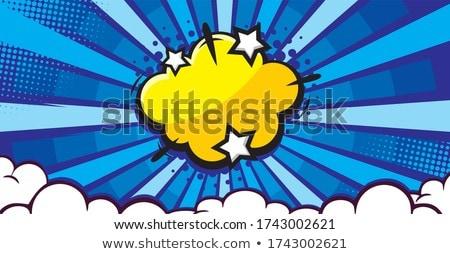 Képregény buborék éles csillag pop art retro Stock fotó © studiostoks