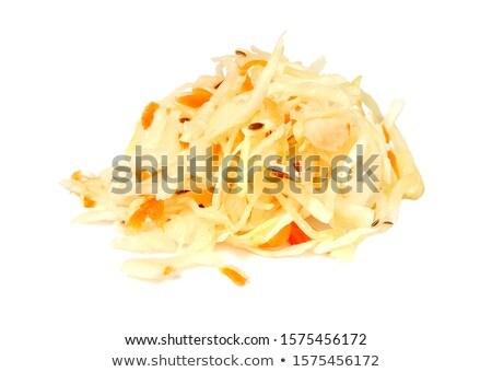 Zuurkool wortel geïsoleerd witte top Stockfoto © Bozena_Fulawka