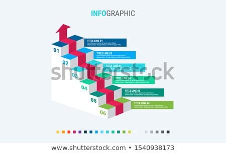 Infografika sablon lehetőségek lépcsősor terv gyönyörű Stock fotó © ukasz_hampel