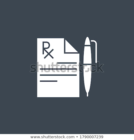 Tıbbi kayıt vektör ikon yalıtılmış beyaz Stok fotoğraf © smoki