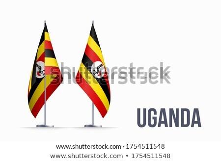 Uganda flag, vector illustration on a white background Stock photo © butenkow