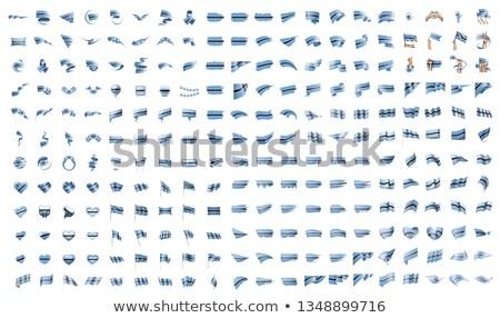 Duży kolekcja wektora flagi Botswana podpisania Zdjęcia stock © butenkow