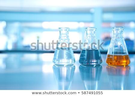 science laboratory flask Stock photo © yupiramos