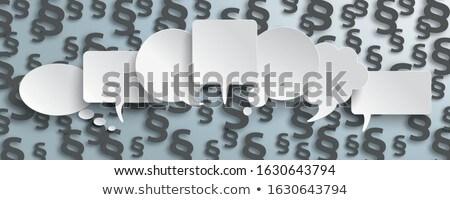 Speech Bubbles Black Paragraphs Gray Header Stock photo © limbi007