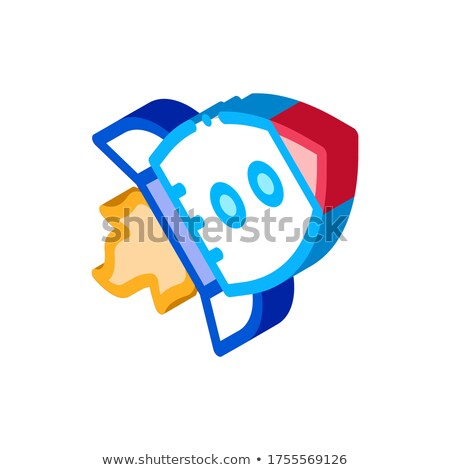 Flying Rocket Spaceship Agile Element isometric icon Stock photo © pikepicture