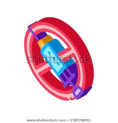 Injectie verbieden isometrische icon vector teken Stockfoto © pikepicture