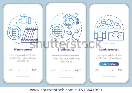 Controlling pollution app interface template. Stock photo © RAStudio