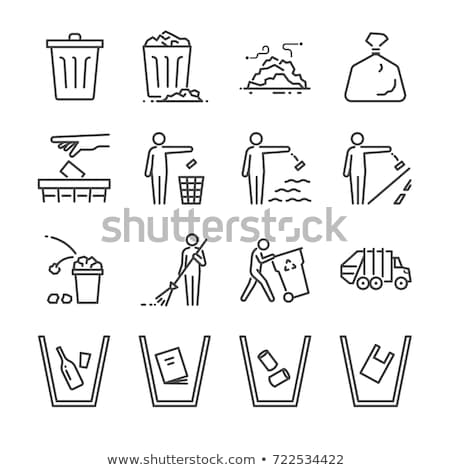 trash sweeping Stock photo © smithore