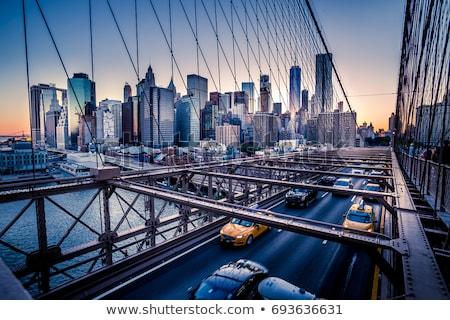 Сток-фото: центра · город · движения · моста · небе · служба