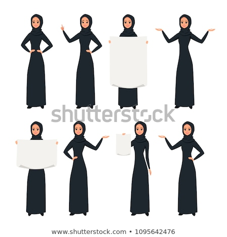 open face muslim woman concept vector illustration stock photo © carodi