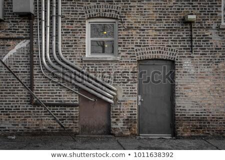 Kırık gri kapı duvar ahşap ayarlamak Stok fotoğraf © rhamm