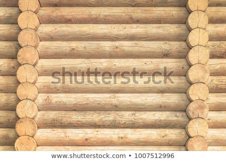 Old wooden log house wall Stock photo © Anterovium