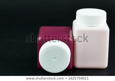 Kozmetik çiçek yüz moda gözler model Stok fotoğraf © pandorabox