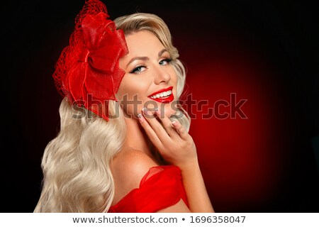 Long wavy Hair. Glamour Fashion Woman Beauty Portrait. Beautiful Stock photo © Victoria_Andreas