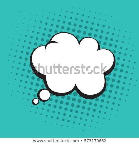 ストックフォト: 考え · ボタン · 画像 · ウェブ · 緑 · 青