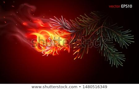 Vurig kerstboom gekleurd abstract illustratie vector Stockfoto © derocz