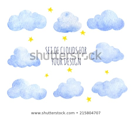 Set watercolor clouds isolated on white background  Stock photo © elenapro