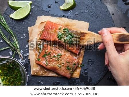 Preparing Fish Stock photo © gemenacom