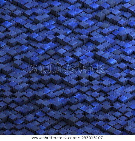 grunge cube collection in cobalt blue Stock photo © Melvin07