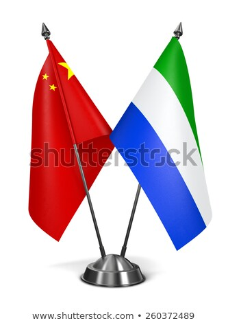 China and Sierra Leone - Miniature Flags. Stock photo © tashatuvango