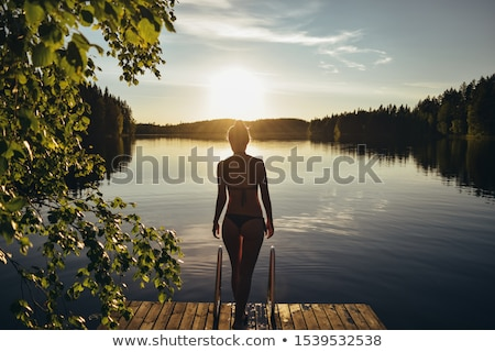 Finlândia corpo mulher como bandeira Foto stock © ssuaphoto