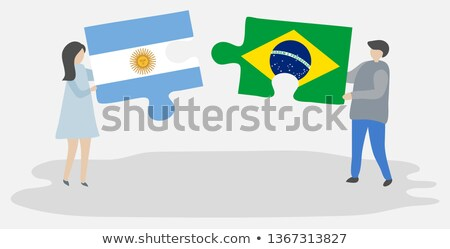 Argentina and Brazil Flags in puzzle Stock photo © Istanbul2009