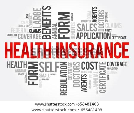 Assurance mot électronique simulateur papier fond Photo stock © fuzzbones0