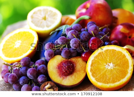 assorted fruit, apple,grape and walnut Stock photo © M-studio