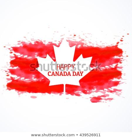 Foto stock: Gunge Style Canada Flag Background