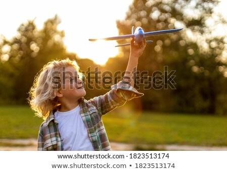 мальчики игрушку самолеты области ребенка Сток-фото © IS2