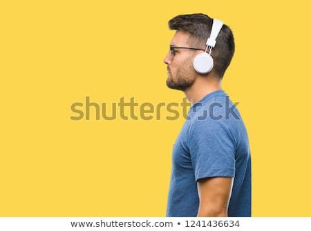 man wearing headphones Stock photo © IS2