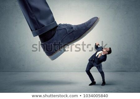 Alkalmazott nagy cipő kicsi férfi munka Stock fotó © ra2studio